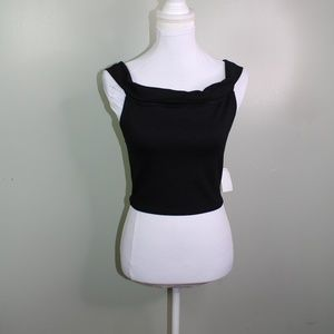 charlotte russe women crop top size small black